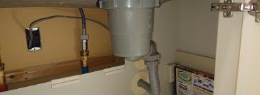 キッチン排水修理